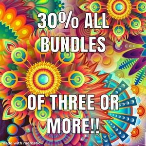 ALL BUNDLES ARE 30% OFF!!!